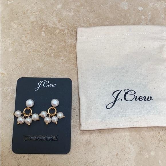 J. Crew Jewelry - J. Crew Pearl Earrings Pierced